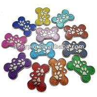 Engraved Pet ID Tags DOG Bone&Paw Glitter cat tags