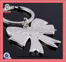 2014 Hot-selling promotional custom metal keychain bowknot key chain