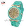 qd0186 barato por atacado de silicone coloridas adolescentes relógios