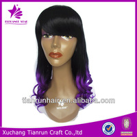 2014 new arrival ombre color brazilian human hair full lace wig