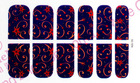 charming red nail wrap nail art sticker beauty nail foils