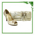 Beautiful Gold Italian Shoes And Bags To Match Women