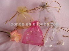 Hot Stamping design organza bags butterfly