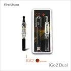 China water vapor cigarettes iGo2 dual LED display dual flavors clearomizer eletronic cigarette