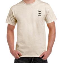 100% organic cotton plain blank big size crew neck t shirt for men