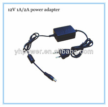 12V 1a cctv power adapter 2 twin cable 5.5*2.1,5.5*2.5mm