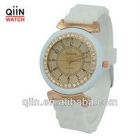 QD0186 popular ladies sweet silicone wrist quartz watch
