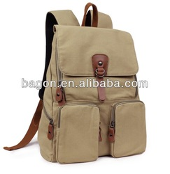 2014 fashion ladies canvas backpack