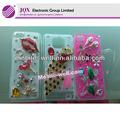 de moda de diamantes de imitación móvil caja del teléfono 3d de pavo real para el iphone 4
