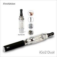 2014 latest invention elektro shisha iGo2 dual two flavors clearomizer electronic cigarette egypt shisha
