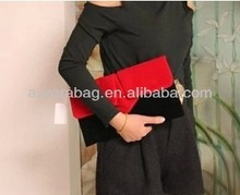 2014 Retro Hit Color High-end Matte Leather Women Envelope Bags