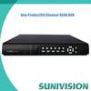 SUNIVISION Manufacturer!!!high quality h 264 4ch hi-tech cctv dvr