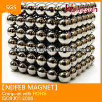 Neodymium ball rare earth ndfeb magnets N52 Ni diameter 15mm