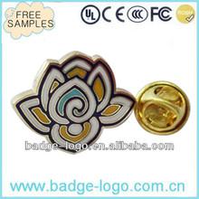 flower shaped custom hard enamel lapel pin for gifts