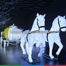 Large motif light with horse pulling pumpkin coach ,christmas decorative motif light