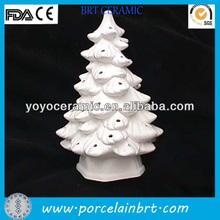 white tree shaped ornaments make ceramic christmas tree