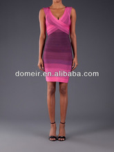change color red evening dress 2014 cheap feather bandage dress H275-2