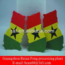 promotional gift national flag Ghana car paper air freshener