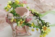 Hawaii Mini Cute Flower Wreath Bridal Party Woman Girls Flower Hair Accessory