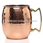 Hammered Copper Barrel Mugs,Copper Beer Mugs, Copper Drinking Mugs