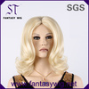 2014 best supplier provide middle long white wig for russian