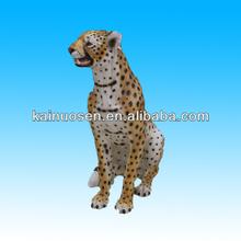 Sitting ceramic leopard