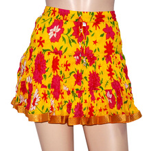 Beautiful colorful floral Cotton Mini Skirt Short Skirt for Girl's Women's