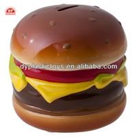ICTI certificated custom make hamburger toy novelty piggy banks