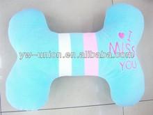 bone plush pillows and cushion /colorful printed cushion and pillow