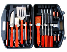 Pofessional barbeque grilling tools with PE case