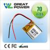 Factory directly selling IEC UN standard 10mah li polymer battery