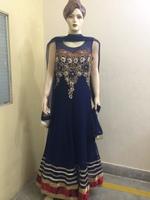 Royal blue Indian wedding heavy designer net anarkali salwar suits for women
