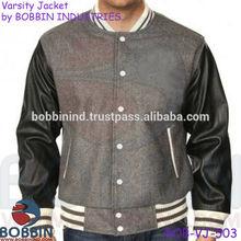 denim varsity jackets, leather varsity jackets, wool varsity jackets