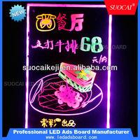 Remote Control lighted neon blackboard LED Illuminated Black Board Neon Sign LED Writing Menu Board