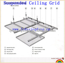 PVC Angle Bar Grid Support With Steel Joist
