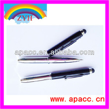 3-in-1 Capacitive Touch Screen Stylus + Ballpoint Pen + LED Flashlight For iPad