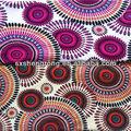 shaoxing china la fábrica impresa baratos 144f dty cepillado de la pintura abstracta de la serie impresas de tela para prendas de vestir dama