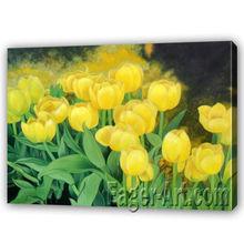 Tulip Flower Painting on Canvas