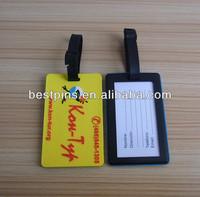 custom 3D design PVC club VIP gift luggage tags