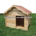 de madera marco un techo de asfalto de la jaula del perro de gran tamaño