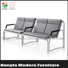 SUNRISE hot sale modern design link metal gang high-back airport lounge waiting fancy sofa chair for sale