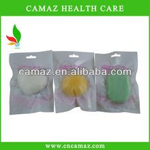 100% Natural face massager, Yellow Natural Konjac Sponge for skin care