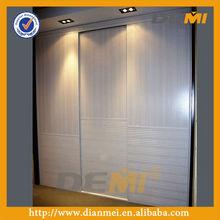 Sliding door wardrobe design with blending decoration