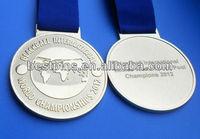 sandblasted world championship medallion