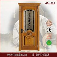 solid wood door classical design wooden doors with glass
