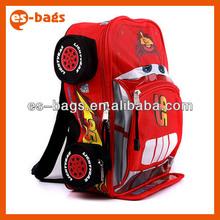 2014 new style child school bag kids backpack car shape cool