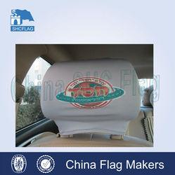 Washable and any logo custom car headrest cover