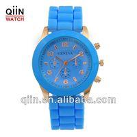 QD0143 Cheap One Dollar silicone rubber otm watches