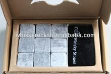 100% puro cubo di ghiaccio in pietra ollare box set ghiacciaio roccia drink classico rocce pietra ollare naturale