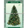 6ft( 180cm) pre-iluminado de navidad artificial de árboles luces claras superior del árbol
